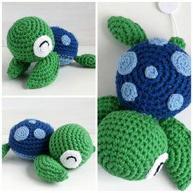 Spieluhr Schildkröte Gehäkelt Kinderwagenkette Pinterest