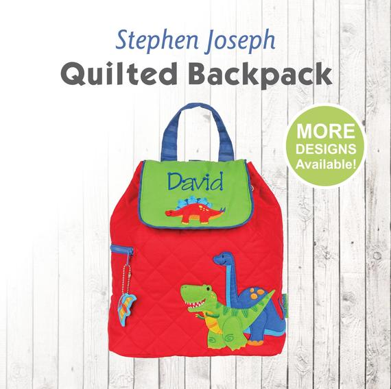 2afdbcaaf9b3 Personalized Dinosaur Backpack with embroidered name, Stephen Joseph ...