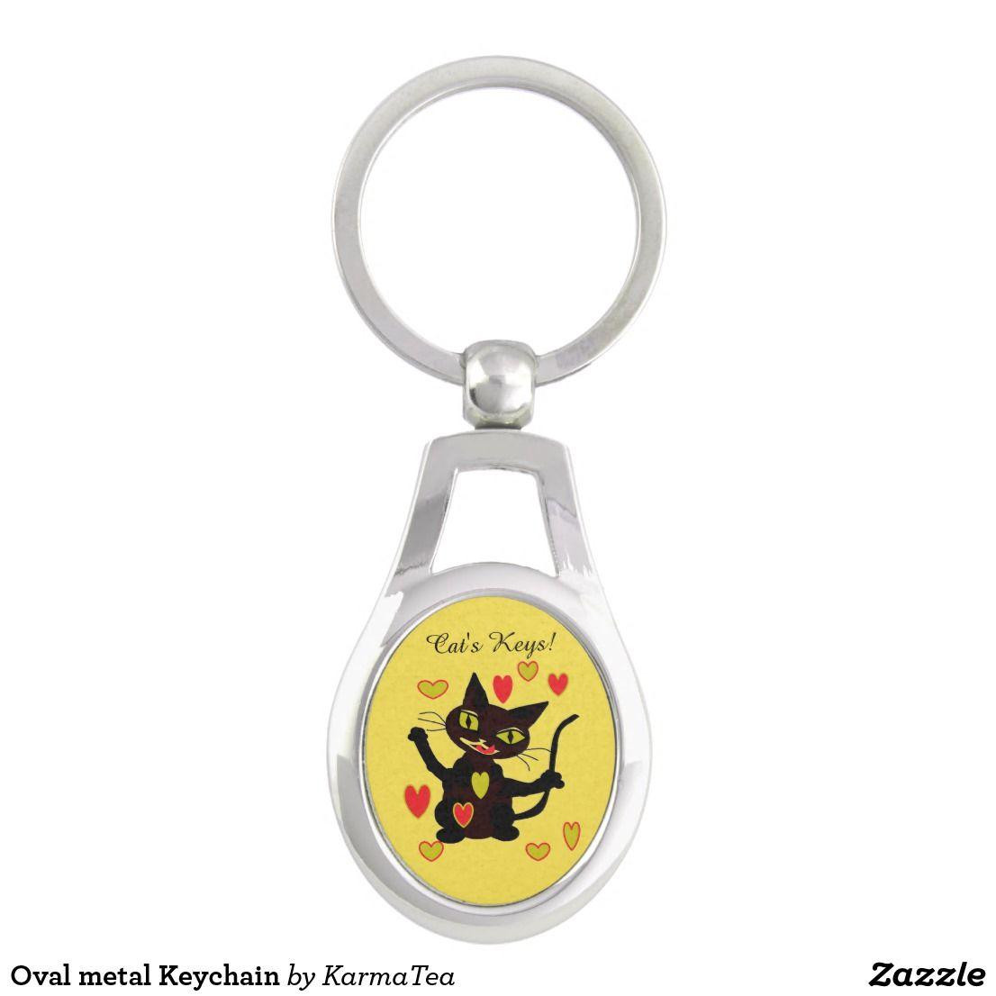Oval Metal Keychain Zazzle