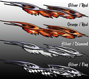 Real Flames Graphics RippedFlameRaceCarWrapGraphicsDecal - Decal graphics for cars