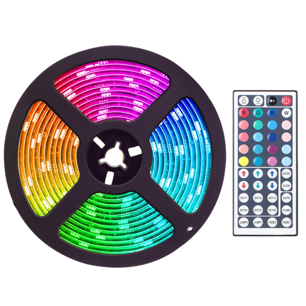 Tsv 16 4ft 5m 300led Rgb Muliticolor Changing Flexible Led Rope Lights Tv Backlight Tape Strip Light Kit Waterproof With 44key Ir Remote Control 8 Brightness L Led Rope Lights Led Lighting Bedroom Led