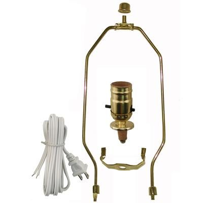 Atron electro industries inc lamp kit with brass harp la801 this compact lamp kit with brass harp is everything you need to repair or make a lamp this do it yourself kit is easy to use and allows you to be creative solutioingenieria Gallery