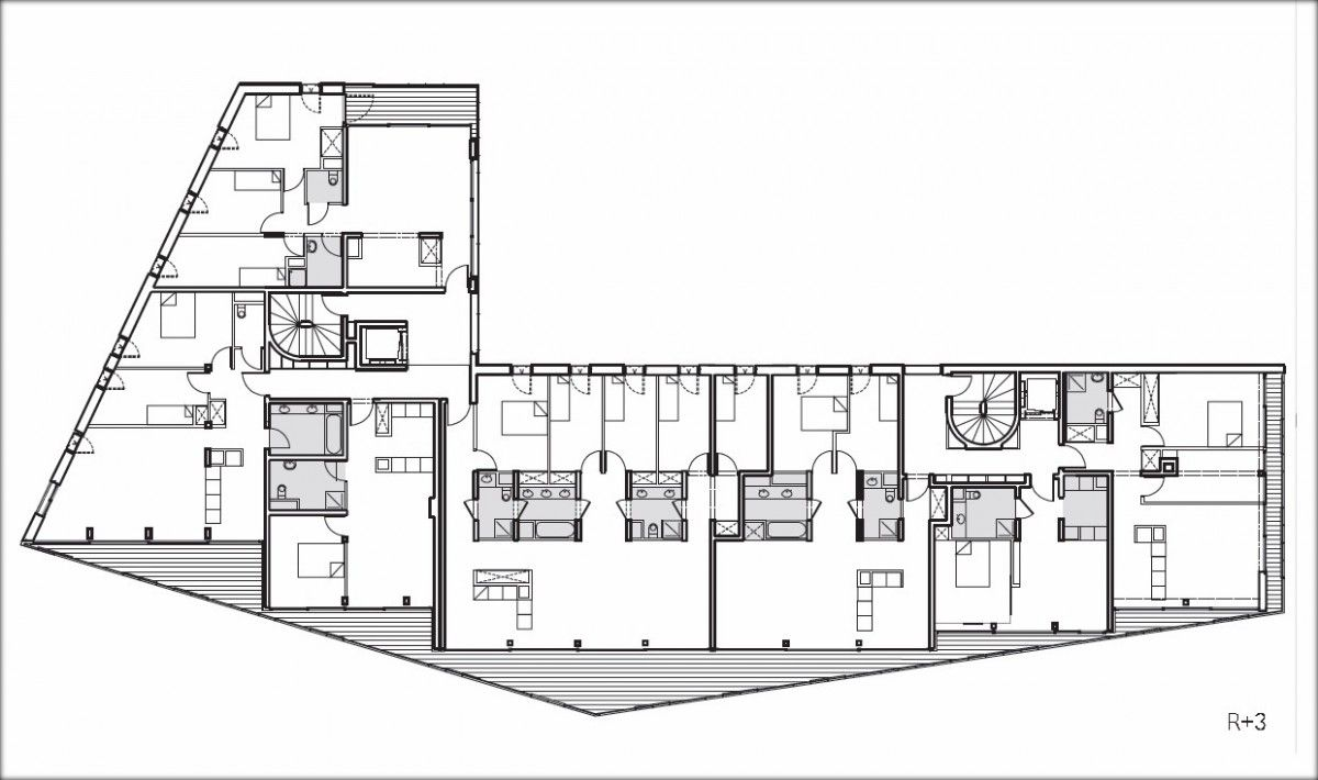 Une façade en métal pour un immeuble quartier masséna à paris