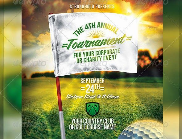 Golf Tournament Flyer Template Awesome Golf Tournament Flyer
