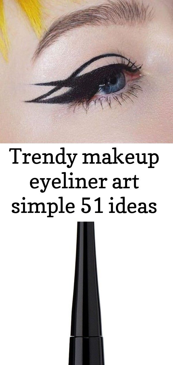 Trendy makeup eyeliner art simple 51 ideas #glittereyeliner