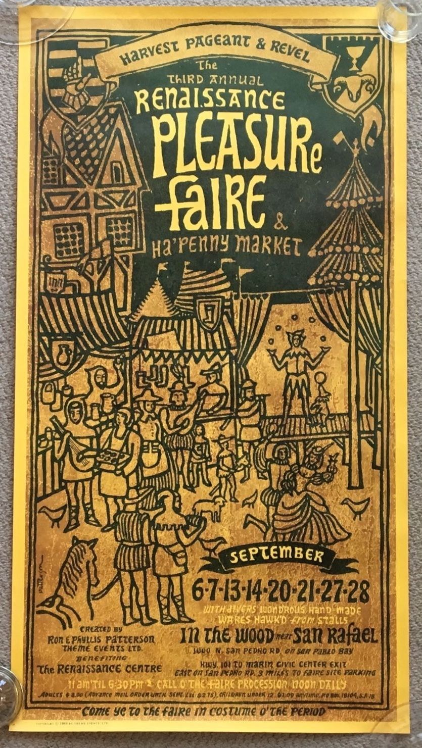 The Third Annual Renaissance Pleasure Faire Poster, 1969