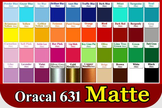 """5 rolls 12/""""  Oracal 631 Matte Colors Adhesive Backed Vinyl Sign /& Craft Cutter"""