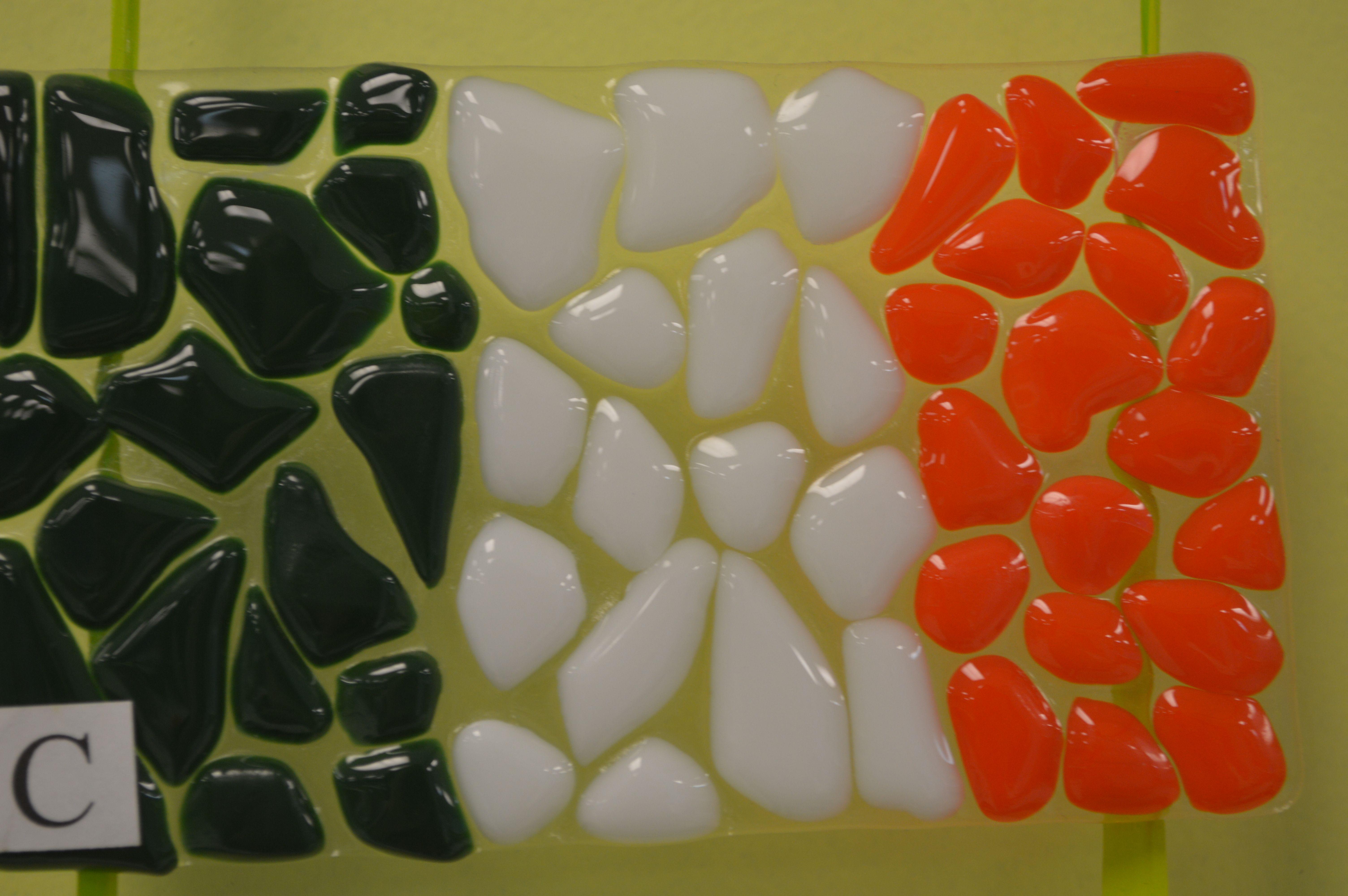 Ireland flag made from fused glass #Irish #pride