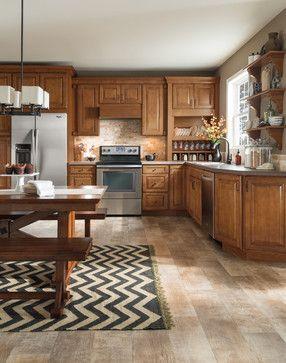 Aristokraft cabinets in Pumpernickle Glaze on the Eastland ...
