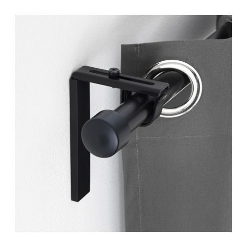 Ikea Betydlig Wall Ceiling Bracket Black Curtain Rod