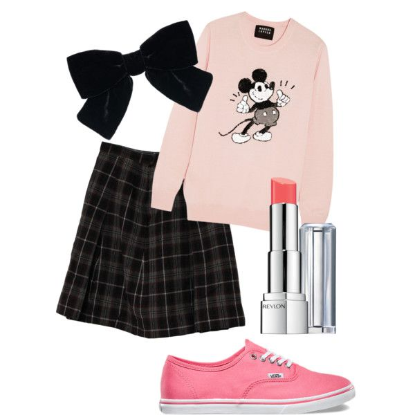 Black and pink by lilly-yeah on Polyvore featuring polyvore, fashion, style, Markus Lupfer, Vans, Yves Saint Laurent and Revlon