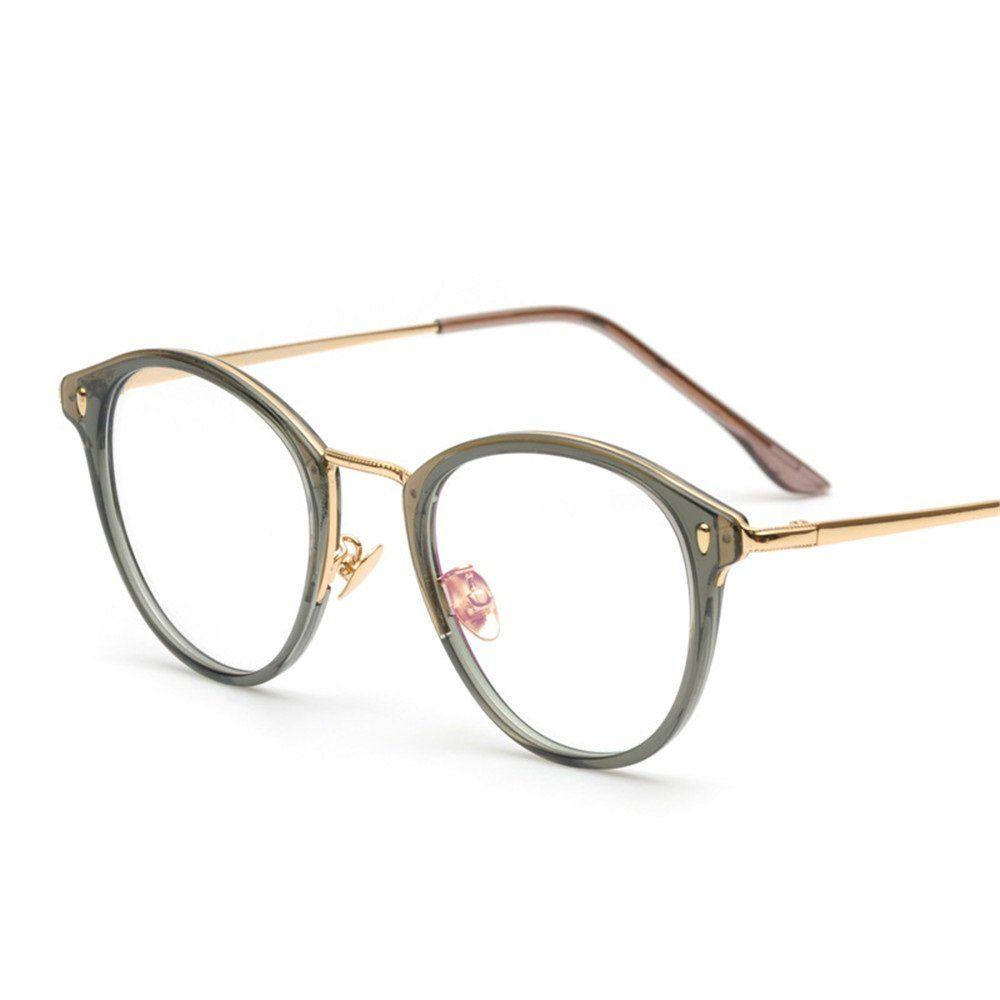 c9d014cf50 Vintage Men Women Eyeglass Frame Glasses Retro Spectacles Clear Lens  Eyewear Rx 9004 (Gary Frame + Golden Arm