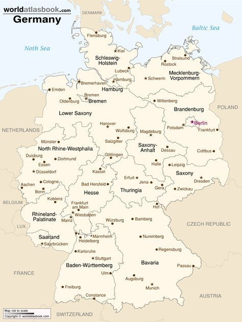Pin by Gary Burrmann on Germany | Map, Germany travel, Germany