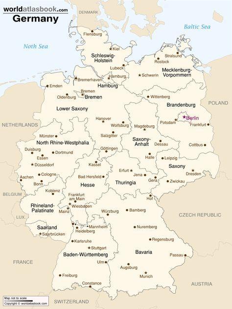 germany-cities-map-printable.jpg (1501×2001) | Germany | Pinterest ...