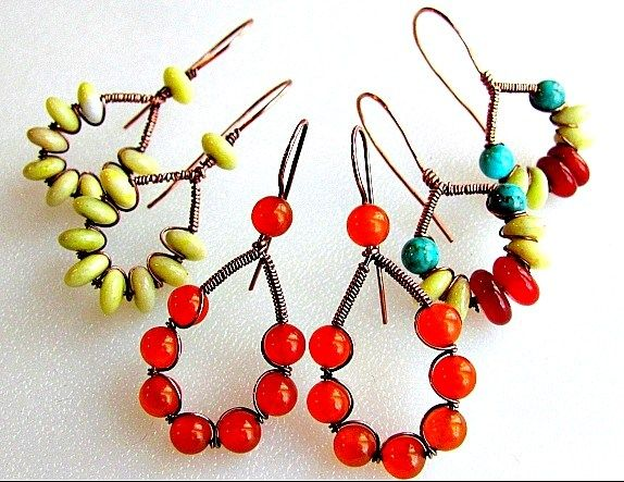 Image result for wire and bead necklace designs