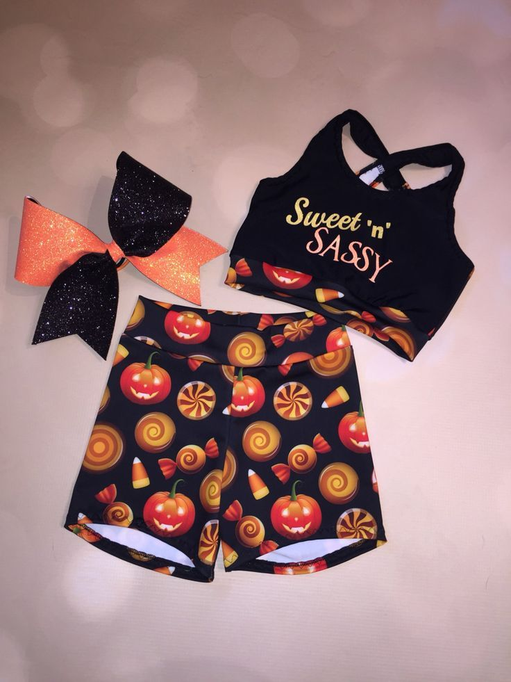 The Sweet n Sassy Sports Bra Crop Top Spandex Shorts and