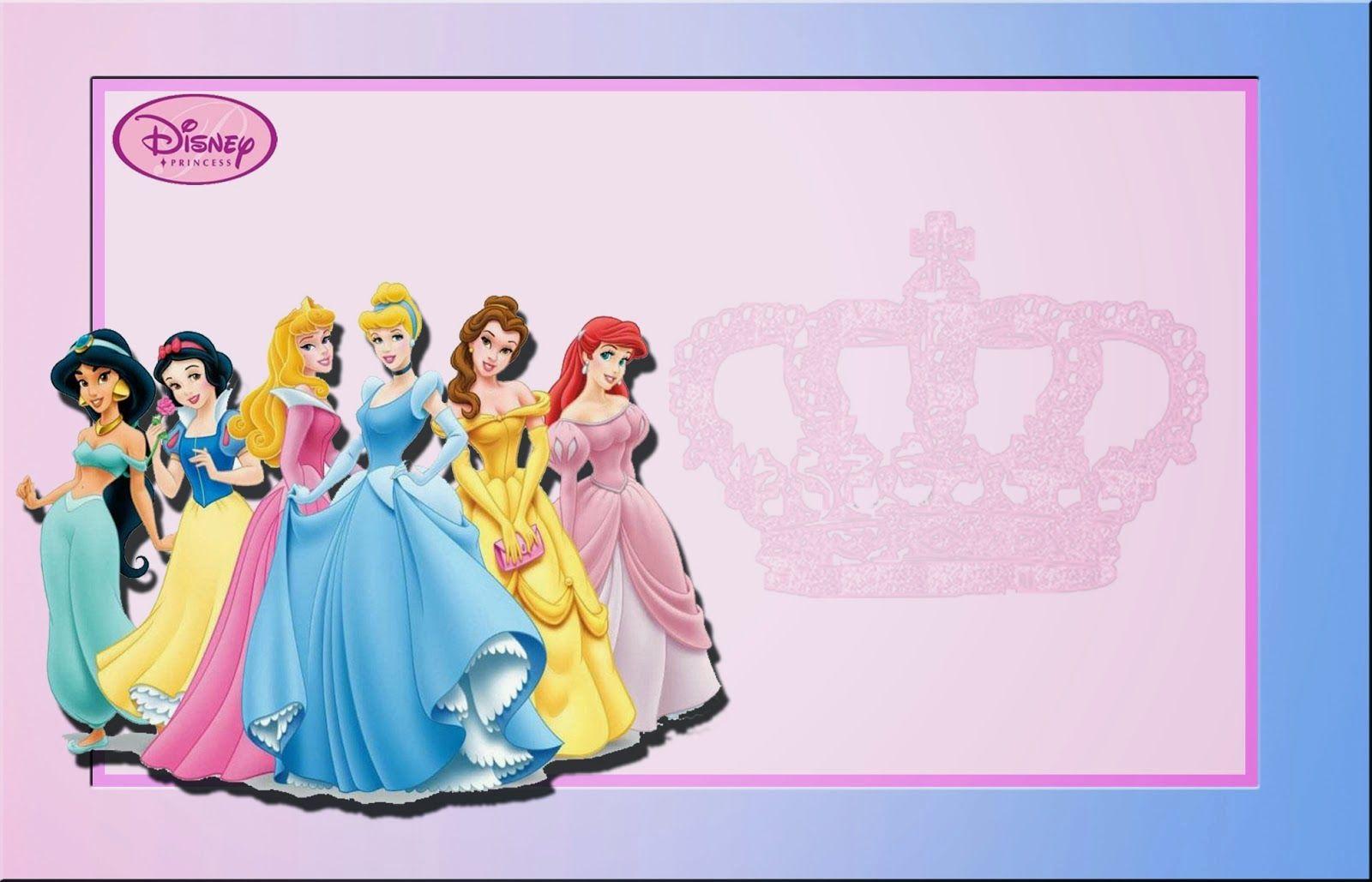 Princesas Disney: Invitaciones para Imprimir Gratis. | deco cumple ...