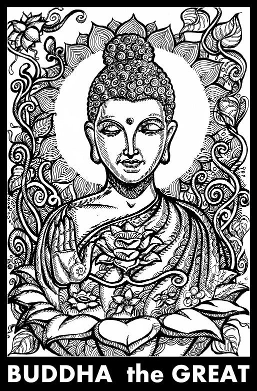 Image result for buddha drawing | Buddha drawing, Buddhist ...