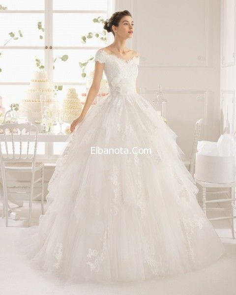 فساتين زفاف 2015 منفوشة موضة فساتين اعراس منفوشة موديلات فساتين افراح 2015 فساتين زفاف أزي Bridal Dresses 2015 Wedding Dresses Off Shoulder Wedding Dress