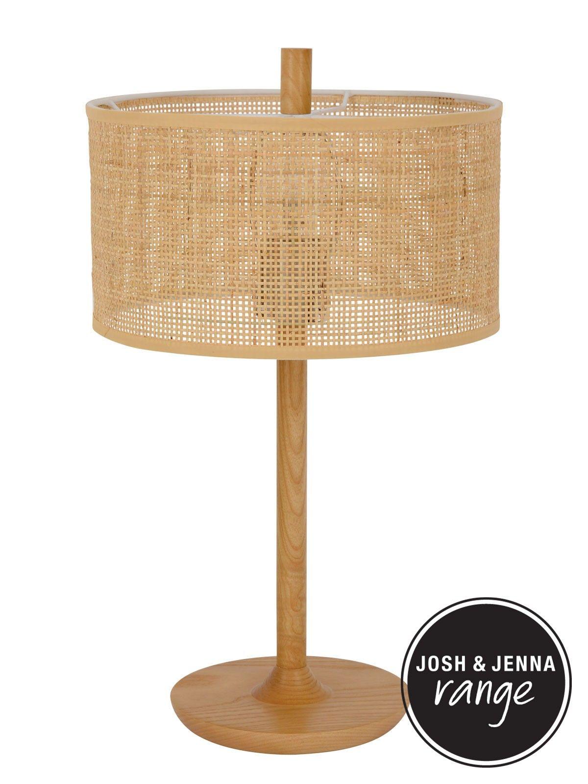 Shore 1 Light Table Lamp In Tan Rattan Table Lamp Light Table Lamp
