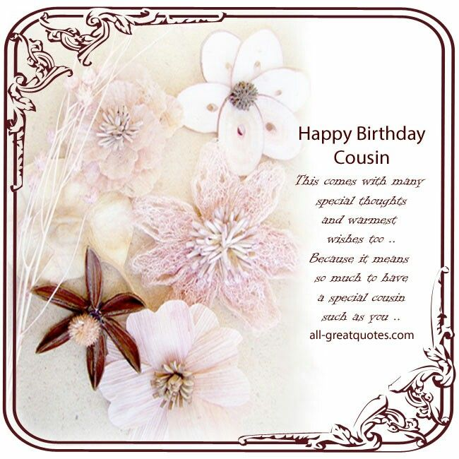 Cousin Birthday, Happy Birthday