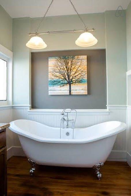 Soak in the double slipper claw foot tub! | Home: Bath Slipper Tub ...