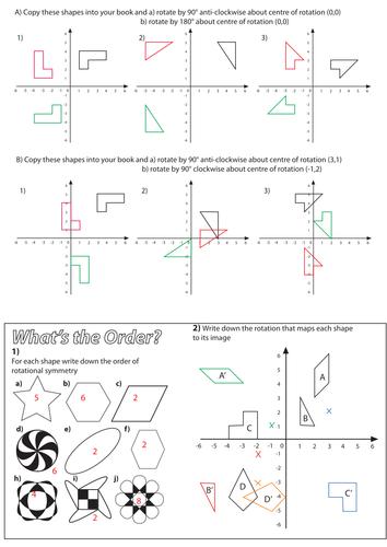 Rotation Worksheet Teaching Resources Geometry Worksheets Mathematics Worksheets Geometry Lessons