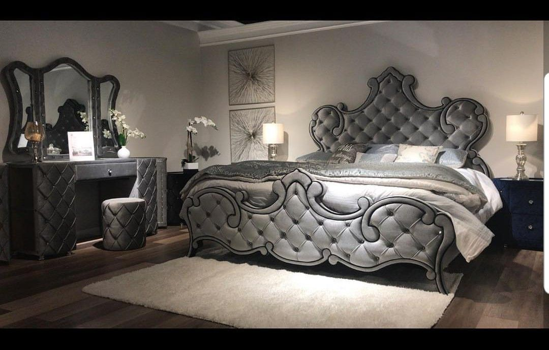 Beautiful tufted bedroom set at DCI FURNITURE #dcifurnitures ...