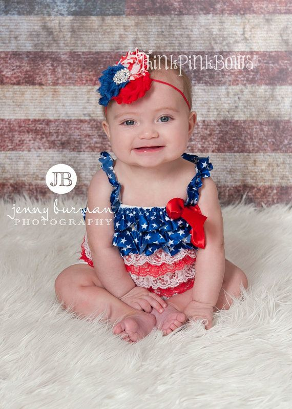 605757d0106a1 ON SALE Baby Headband and Petti Lace Romper SET, 4th Of July Headband and  Lace Petti Romper,Baby Headbans,Petti Romper,Patriotic Headband. on Etsy,  $19.95