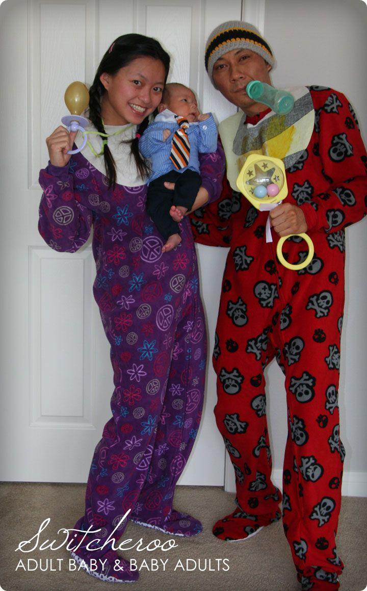 Halloween 2010 DIY Tutorials Adult and Baby Switcheroo
