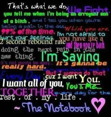 I want you.. All of you. You and me. Together. Notebook quotes