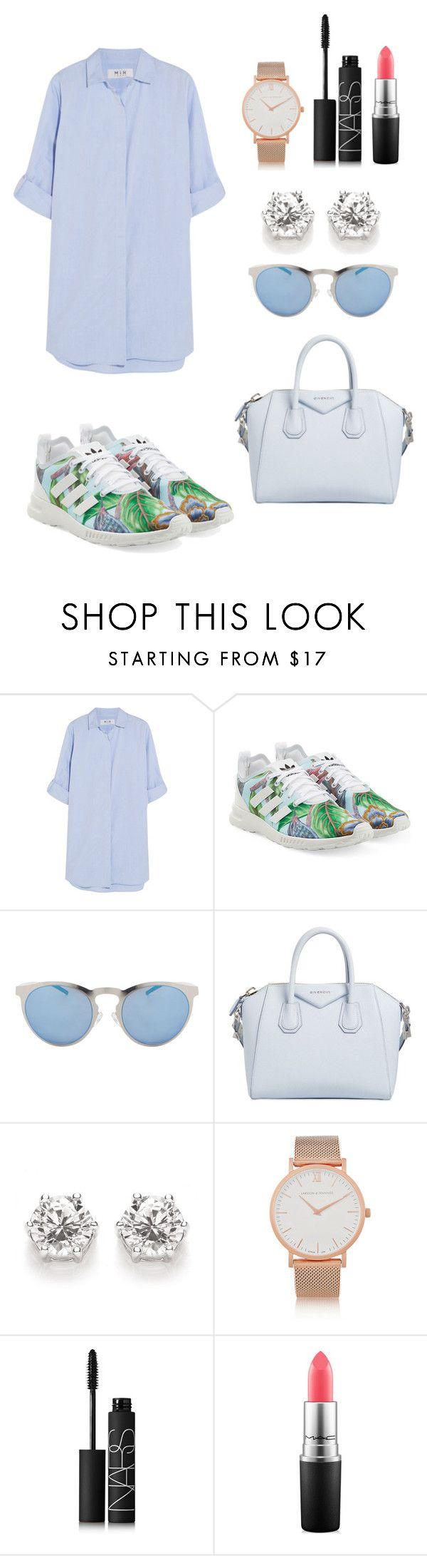 """Sin título #95"" by hannymontanita on Polyvore featuring moda, MiH Jeans, adidas Originals, Illesteva, Givenchy, Larsson & Jennings, NARS Cosmetics y MAC Cosmetics"