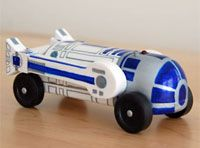 R2D2 Pinewood derby car - A little challenging, but turned out ...