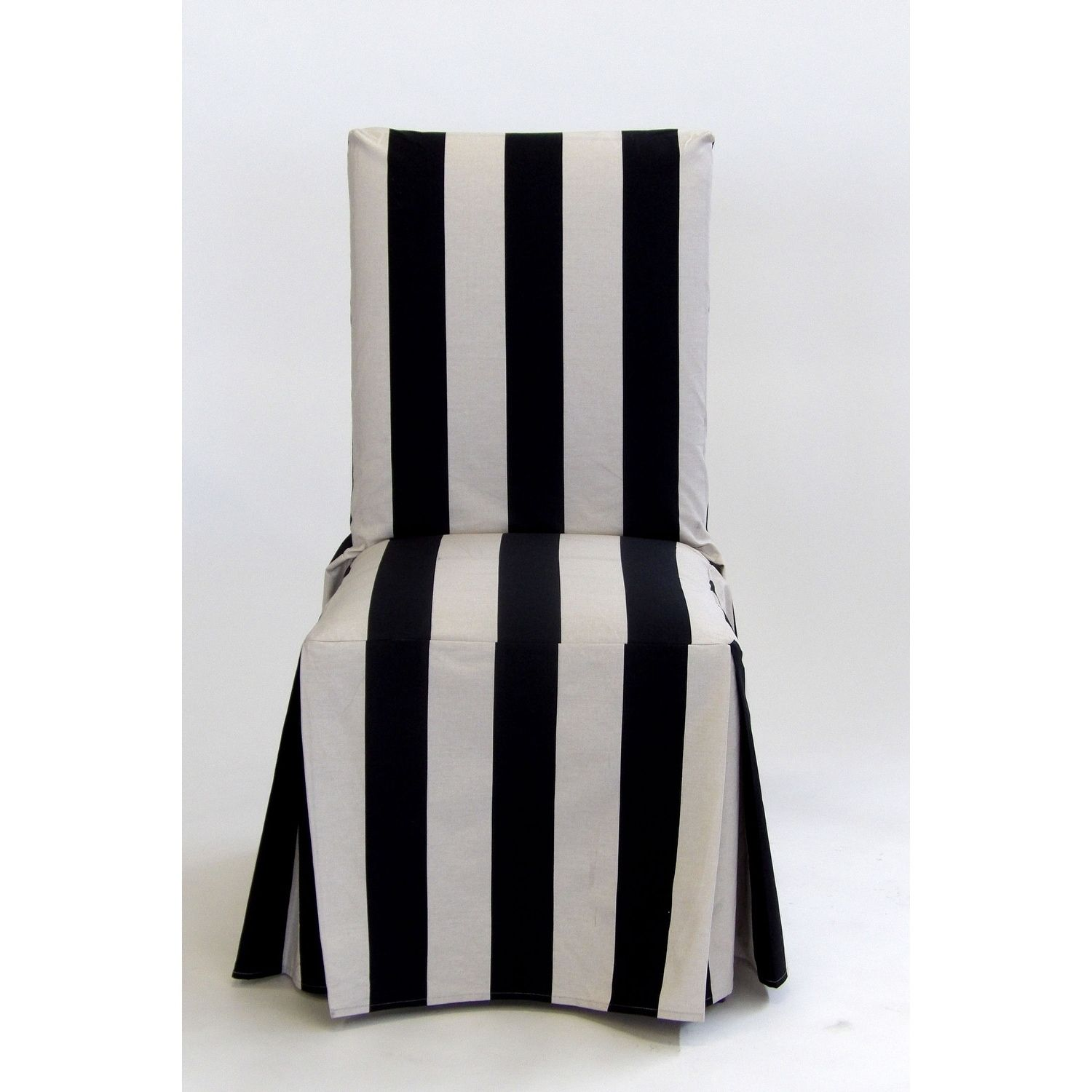 Classic Slipcovers Cabana Stripe Long Dining Chair Covers ...