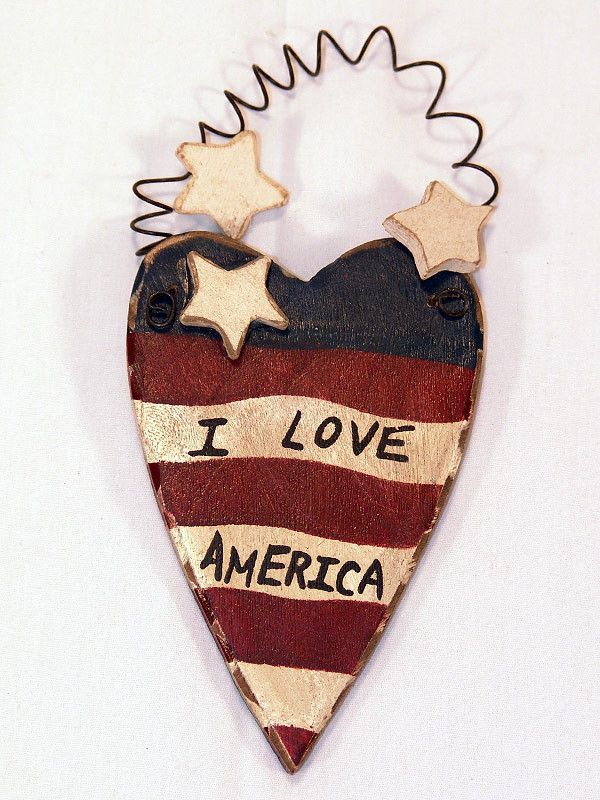Americana I Love America Christmas Ornament   Christmas ornament ...