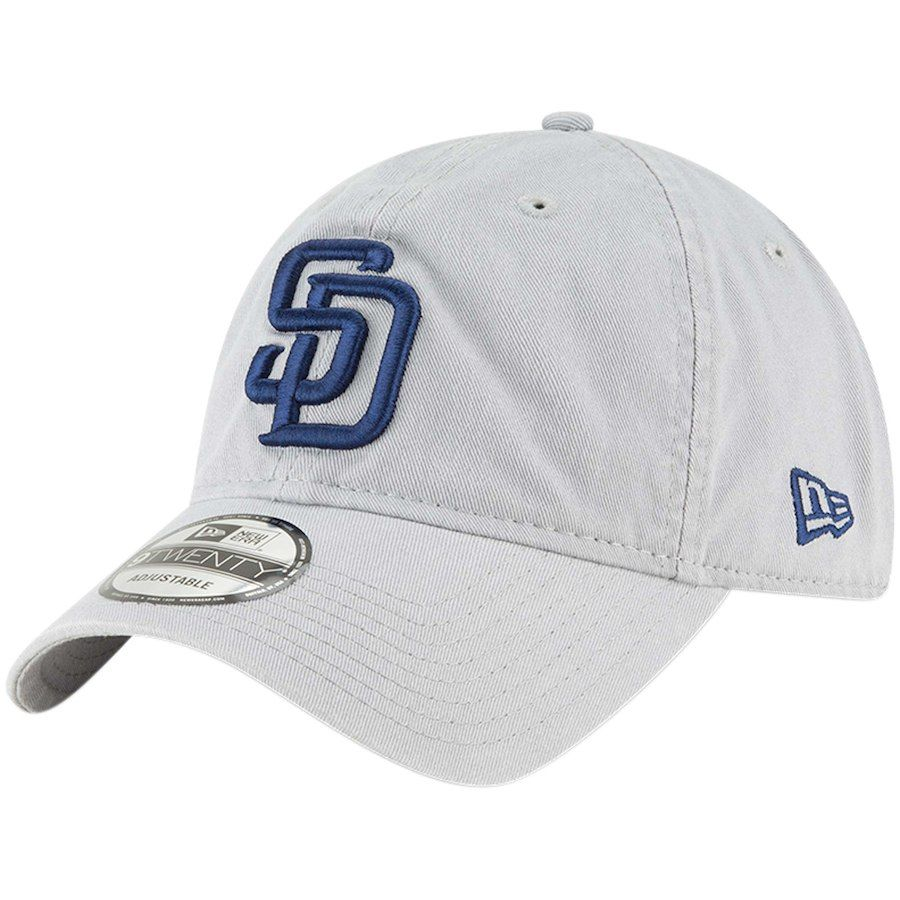 ba8f355f ... discount code for mens san diego padres new era gray core classic twill 9twenty  adjustable hat