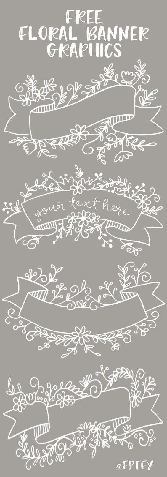 Photo of Pin on Искусство #kalendergestaltenkinder (9) Free Floral Banner Graphi …