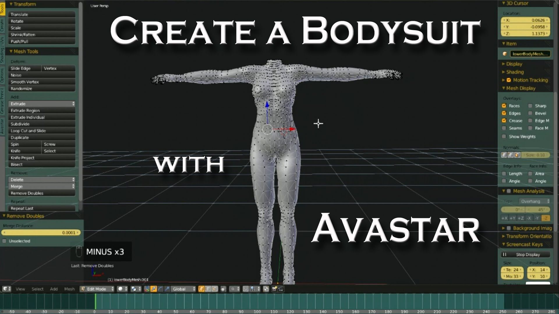 How to Create an SL Wetsuit with Avastar Blender Video Effects