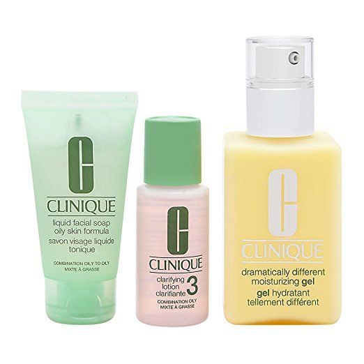 Clinique 3 Piece 3 Step Skin Care Introduction Kit For Unisex Combination Oily Skin Type Skin Care Kit Combination Oily Skin Combination Skin Care