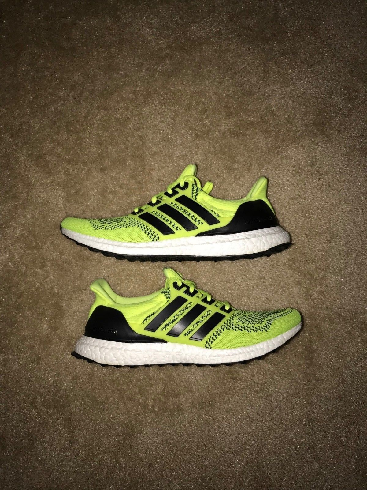 0b08bd51065 NEW ADIDAS ULTRA BOOST 1.0 SOLAR YELLOW VOLT NEON CORE BLACK WHITE PK S77414  10