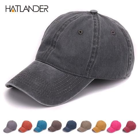 9976debf05a HATLANDER Plain dyed sand washed 100% soft cotton cap blank baseball caps  dad hat no embroidery mens cap hat for men and women