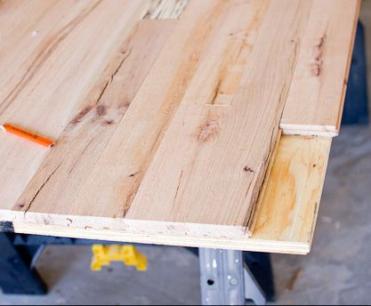 How To Build A Table Use Leftover Floor Boards Diy