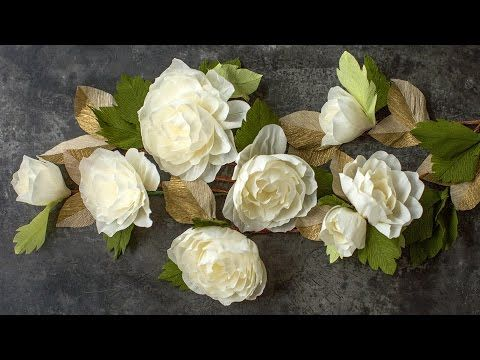 How to make a simple crepe paper flower for weddings video crepe how to make a simple crepe paper flower for weddings video mightylinksfo
