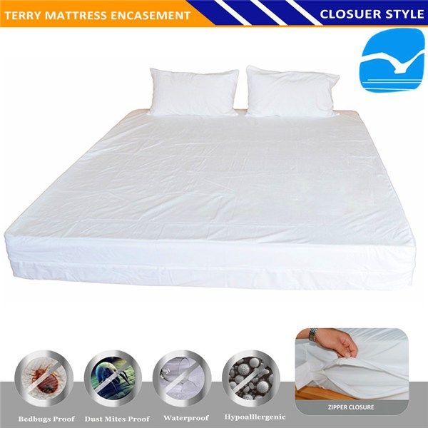 Hotel Quilted Mattresses Cover, Waterproof Permeable Mattress Polyurethane Waterproof  Bed Sheets Organic Cotton Fabric In Kota Bharu