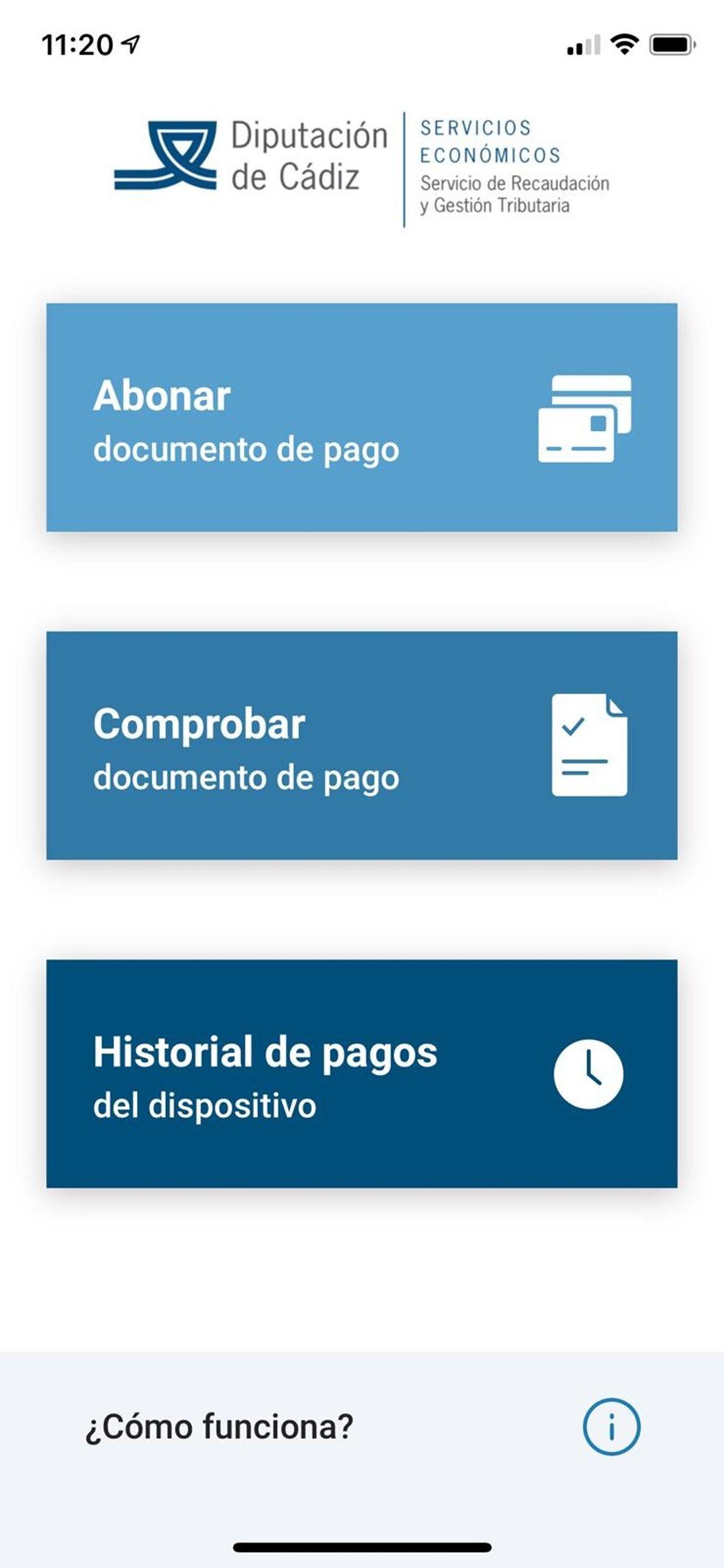 aplicación de la diputación de Cádiz
