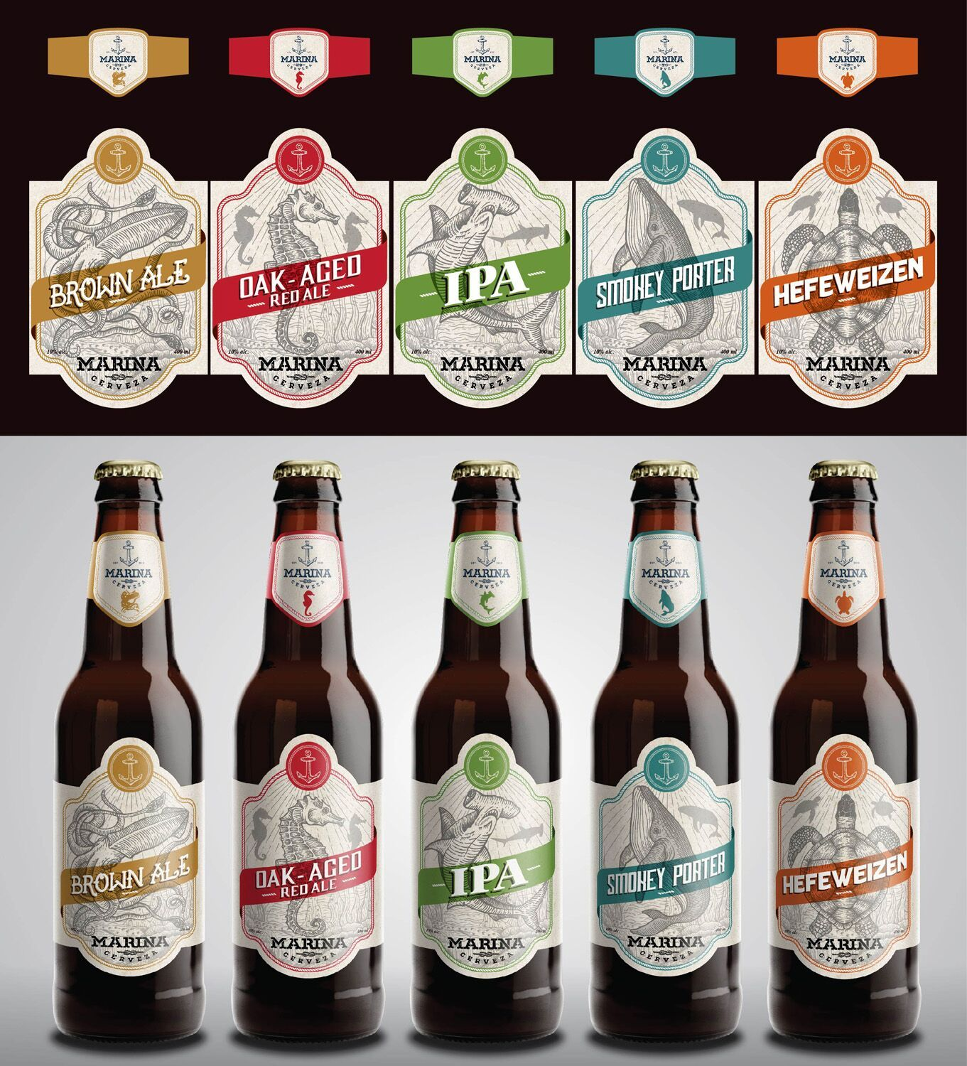 10 Inspirational Graphic Design Trends For 2018 99designs Beer Bottle Design Beer Label Design Beer Design