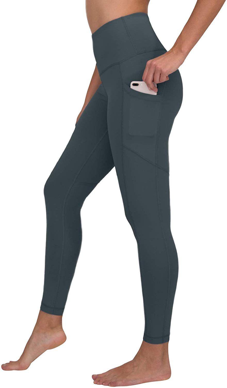 116ddd9942cea Amazon.com: 90 Degree by Reflex High Waist Interlink Yoga Pants - Royal  Plum - XS: Clothing