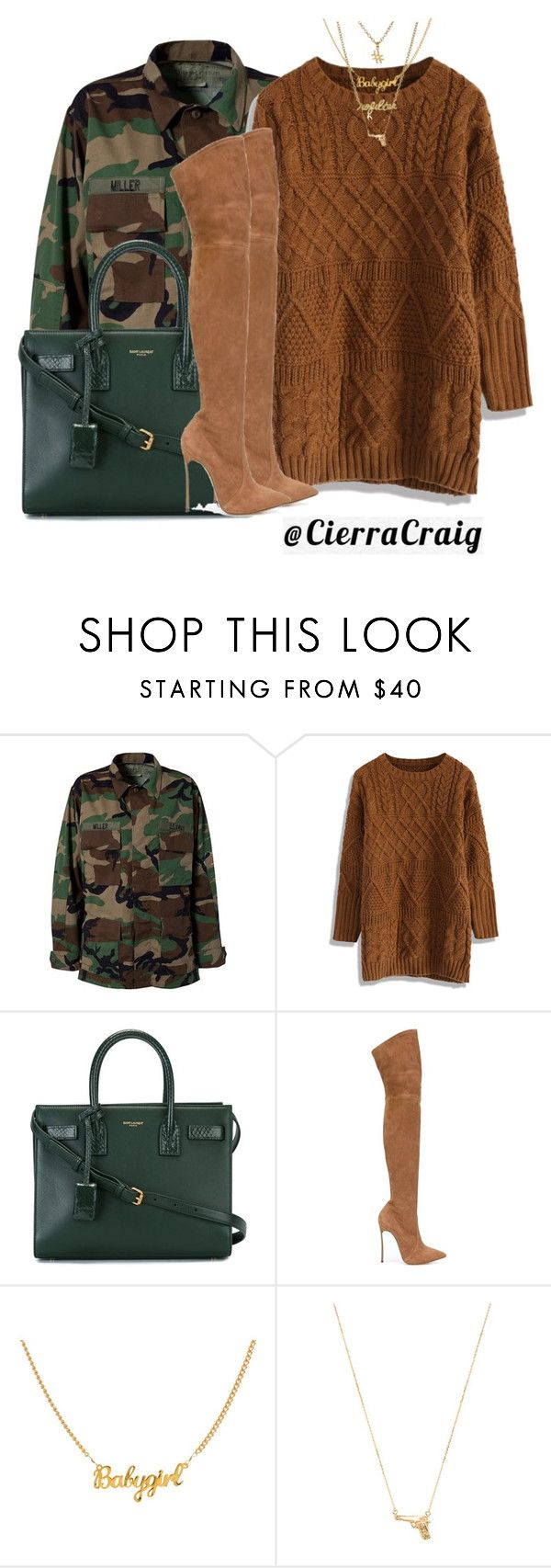 """""""Fall Fit 2.0"""" by cierracraig ❤ liked on Polyvore featuring Modström, Chicwish, Yves Saint Laurent, Casadei, Joolz by Martha Calvo and Gorjana"""