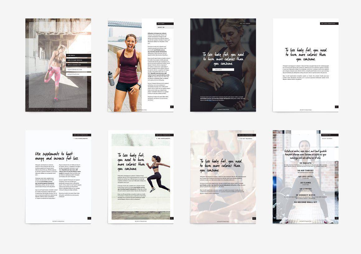 Fitness Modern Ebook Template | Template