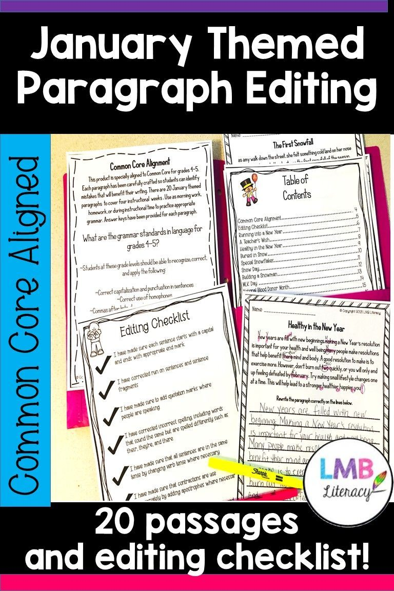 This Product Is Specially Aligned To Common Core For Grades 4 5 Each Paragraph Has Been Carefully Crafted So Students Teaching Writing Writing January Writing [ 1152 x 768 Pixel ]